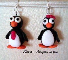 #orecchini Mr & Mrs Penguins #fimo #natale'13 http://chiaracreazioniinfimo.files.wordpress.com/2013/12/pinguini.jpg