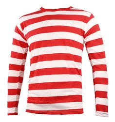 red and white striped shirt mens | Men's Long Sleeve Red & White Striped Shirt by SkirtStar on Etsy
