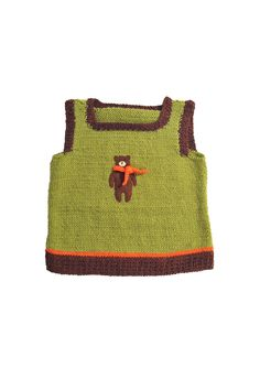 child's vest w/hug-able bear!