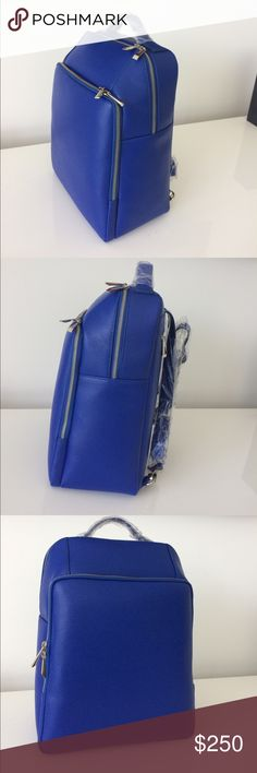 BARNEY'S  NYC Leather Backpack.  NWT BARNEY'S NEW YORK BACKPACK NWT 100% authentic blue leather Backpack. Also have in black Barneys New York Bags Backpacks