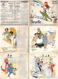 CATALOGUE-POUPEE-BLEUETTE-HIVER-1937-38-DESSINS-MANON-IESSEL-BECASSINE