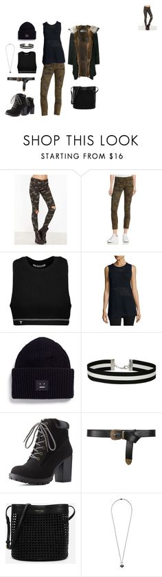 """""""Tomboy Cargo"""" by facefacebook4 on Polyvore featuring Hudson, T By Alexander Wang, Vince, Acne Studios, Miss Selfridge, Charlotte Russe, Alberta Ferretti, CHARLES & KEITH, Alexander McQueen and Yves Salomon"""