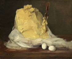 Mound of Butter - (Artist: Antoine Vollon c. - Masterpiece Classic (Art Prints, Wood & Metal S National Gallery Of Art, Art Gallery, Oil On Canvas, Canvas Prints, Art Prints, Amish Recipes, Poster Size Prints, Print Poster, Still Life
