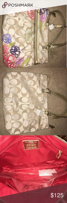 Wow brand new Coach Poppy Coach Poppy beautiful  bag.    Brand new with tags Coach Bags Satchels