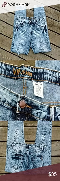 VIP jeans These jeans are breath taking! In Excellent Used Condition/Like New! Many wore two-three times. Size 15/16. 98% Cotton/ 2% Spandex. Has some strech to them. Very comfortable. VIP Jeans