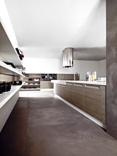 in rovere color argilla. in clay coloured oak. Kitchen Colors, Bathtub, Clay, Handle, House Design, Bathroom, Laque, Kitchens, Woodwind Instrument