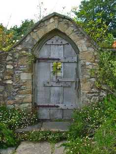 Humble door to a secret garden; photo  by Paul Taylor.