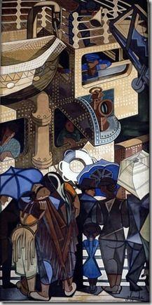 Negreiros ~ Gare Marítima da Rocha do Conde de Óbidos, Lisbon Portugal, Art Deco Period, Portrait Art, Lisbon, Art And Architecture, Figurative Art, Art Nouveau, Sculptures, Painting