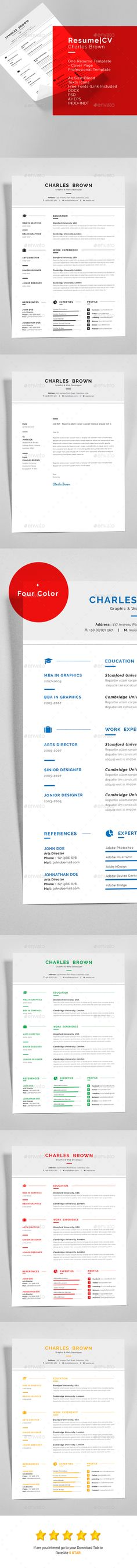 Resume Template PSD, Word Download here    graphicrivernet - resume for word