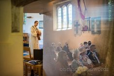 Vicar plays acoustic guitar during curch wedding ceremony watched by wedding guests wearing covid face masks. Church Wedding Ceremony, Wedding Humor, Acoustic Guitar, The Funny, Face Masks, Plays, Photographs, Games, Church Weddings