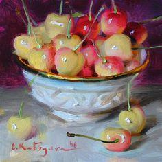 "Daily+Paintworks+-+""Cherry+Mix""+-+Original+Fine+Art+for+Sale+-+©+Elena+Katsyura"