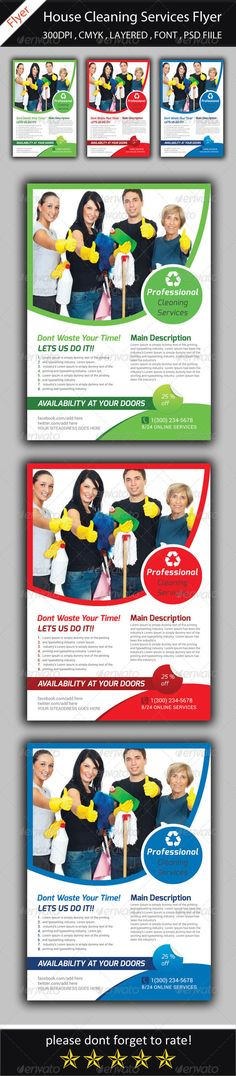 House Cleaning Services Flyer Template House cleaning services - house cleaning flyer template