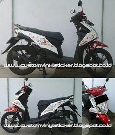Honda Beat ESP Red White - Hello Kitty Custom Sticker
