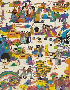 Beatles Yellow Submarine Fabric.