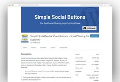 Simple Social Media Share Buttons – Social Sharing for Everyone