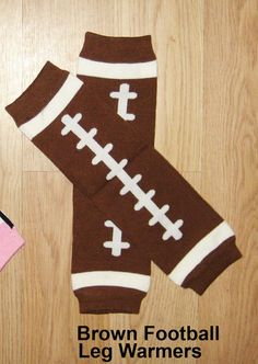 Football leg warmers Unisex leg warmers Brown football legwarmers Football leggins Baby boy leg warmers Toddler leggins Sports leg warmers on Etsy, $10.00