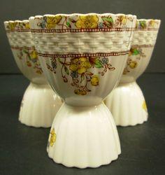 Vintage Copeland Spode China England Porcelain Double Egg Cup