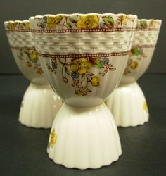Vintage Copeland Spode China England Porcelain Double Egg Cups - My mother's pattern.