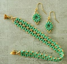 Linda\'s Crafty Inspirations: Bandwidth Bracelet & SuperDuo Flower Chain Earrings