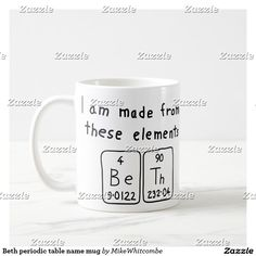 Tara periodic table name mug table names names and mugs urtaz Choice Image