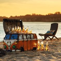 Vintage Van Beach Cooler - could almost buy a real van for the price, but it's too cute.