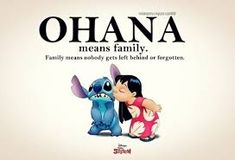 """I love my Ohana. I have been thinking about some sort of tattoo to represent them, and I really think there is no better way than with a Lilo and Stich """"Ohana"""" tattoo. Walt Disney Animation, Disney Love, Disney Magic, Disney Disney, Disney Stuff, Disney Films, Disney Family, Tattoo Ohana, Lilo And Stitch 3"""