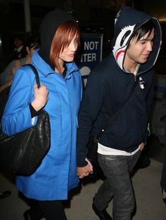 Ashlee Simpson and Pete Wentz at LAX Aiport (2008)