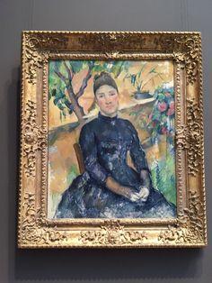 """Mandam Cézanne"" -Paul Cézanne- MOMA-NY"
