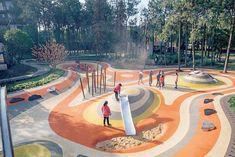 AVIC Park, Hongdu Nanchang, by YIYU design « Landscape Architecture Platform Architecture Panel, Landscape Architecture Design, Landscape Designs, Contemporary Landscape, Urban Landscape, Modern Architecture, Landscape Bricks, Landscape Plaza, Landscape Steps