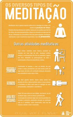 os diversos tipos de meditação-01 Meditation Practices, Mindfulness Meditation, Chakras, Different Types Of Meditation, 5am Club, Mind Body Soul, Chakra Healing, Emotional Intelligence, Peace Of Mind