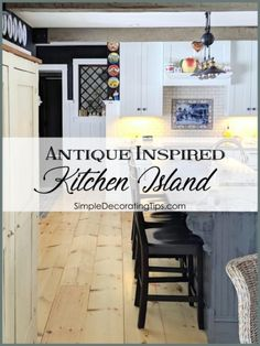 By taking cues from a vintage general store counter, I created my own antique inspired kitchen island for our newly remodeled kitchen. Faux Brick Backsplash, Crate Cover, New Cabinet, Cabinet Ideas, Quality Cabinets, Luxury Vinyl Flooring, Kitchen Paint, Decorating Tips, Interior Decorating