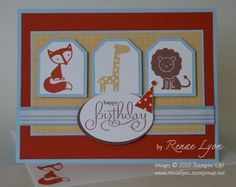 Stampers showcase birthday cards pinterest cards card ideas mojo 131 fox and friends by topspin cards and paper crafts at splitcoaststampers bookmarktalkfo Choice Image