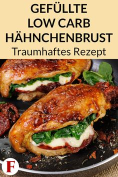 This stuffed chicken breast is low carb and high in protein. This makes it … Diese gefüllte Hähnchenbrust ist Low Carb und eiweißreich. Dadurch eignet sie… This stuffed chicken breast is low carb and high in protein. This makes… Continue Reading → - Healthy Dinner Recipes For Weight Loss, Healthy Soup Recipes, Beef Recipes, Protein Recipes, No Calorie Foods, Low Calorie Recipes, No Carb Diets, Dieta Atkins, Law Carb