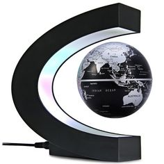 Just US$22.16 + free shipping, buy C Shape Magnetic Levitation Floating Globe World Map with LED Light Decoration for Home Office online shopping at GearBest.com.
