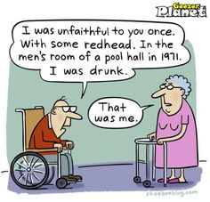 funny pics about ageing . and masses more funny pics, very funny pics, funny photos, funny animations, illusions and lots more fun pics! Funny Cartoons, Funny Jokes, Hilarious Sayings, Funniest Jokes, Funny Drunk, Jokes Pics, Funny Texts, Redhead Funny, Redhead Quotes