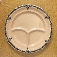 Details about 2 Art Deco Toltec Walker China Restaurant Ware Grill Plates