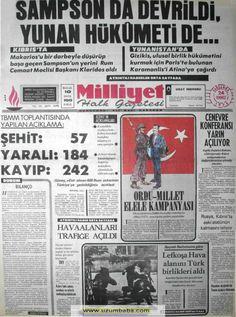 Milliyet gazetesi 24 temmuz 1974 Turkey Country, Important Facts, Newspaper, Advertising, History, Ankara, Nostalgia, Historia, Journaling File System