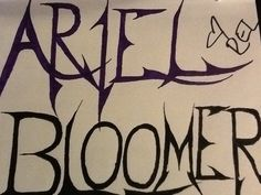 I drew this for Ariel Bloomer (The lead singer on Icon For Hire) and she signed it for me on 9.29.13. when I met the band. I also gave her a custom Icon For Hire shirt I made with sharpie. She hugged me!! :) Artwork by me