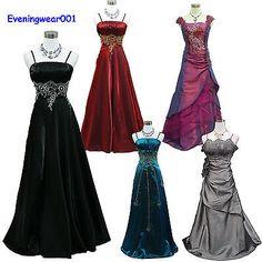 Cherlone Satin Sparkle Lace Ball Bridesmaid Formal Wedding/Evening Gown Dress £30 eBay