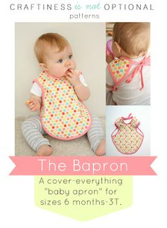51 Things to Sew for Baby - Baby Apron Tutorial - Cool Gifts For Baby, Easy Things To Sew And Sell, Quick Things To Sew For Baby, Easy Baby Sewing Projects For Beginners, Baby Items To Sew And Sell Baby Sewing Projects, Sewing Projects For Beginners, Sewing For Kids, Diy Projects, Baby Sewing Tutorials, Free Sewing, Sewing Ideas, Sewing Crafts, The Babys