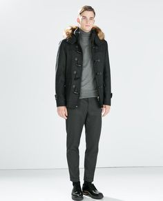Image 1 of HOODED DUFFLE COAT from Zara
