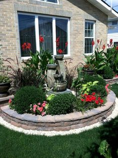 34 Stunning Spring Garden Ideas for Front Yard and Backyard Landscaping - garden landscaping Front Yard Garden Design, Small Front Yard Landscaping, Garden Yard Ideas, Landscaping With Rocks, Backyard Landscaping, Landscaping Ideas, Garden Cafe, Garden Pool, Modern Landscaping