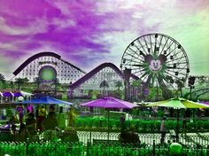 lavendar-green.   I need to go to theme parks like this!