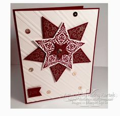"Christmas in August (Part 1) is made with Stampin' Up's ""Bright and Beautiful"" stamp set."