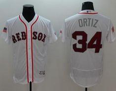 b2858a872 Red Sox  34 David Ortiz White Fashion Stars   Stripes Flexbase Authentic  Stitched MLB Jersey