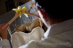 Love the hanger! http://storytotell.me/blog/mr-mrs-ault/ Wedding Photography