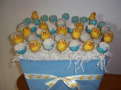 Rubber Ducky Baby Shower Cake Pops: Www.facebook.com/ediblesbyerin