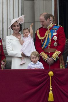 zimbio: Trooping the Colour 2016, June 11, 2016-The Cambridges-William, Catherine, George and Charlotte