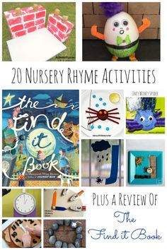 20 Nursery Rhyme activities plus a review of The Find It Book - an amazing new book from Margaret Wise Brown!