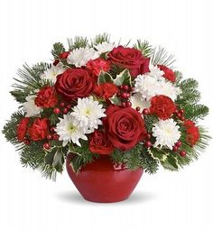 Holiday bouquets and christmas flowers for christmas flower delivery today Christmas Flower Arrangements, Christmas Flowers, Beautiful Flower Arrangements, Christmas Centerpieces, Floral Arrangements, Beautiful Flowers, Christmas Decorations, Christmas Flower Delivery, Fruit Flower Basket